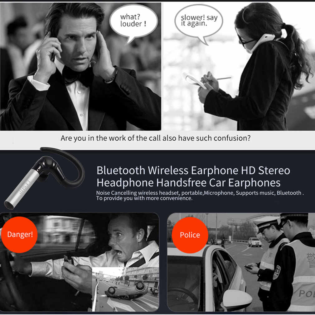 Wireless Bluetooth Kopfhörer Stereo Kopfhörer Sport Headse Mit Mikrofon Build-in Mic Handfree Ohrhörer