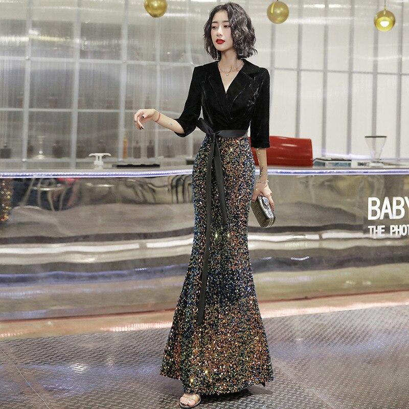 Image 3 - 2020 robe habituellement peut porter moderne femmes 2020 nouveau Style champ de gaz Sexy queue de poisson réunion annuelle jupeRobes de cocktail   -