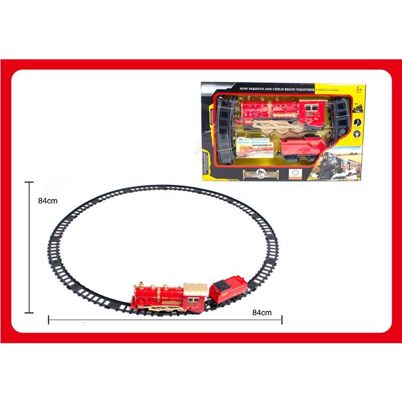 CHILDREN'S Toy Electric Smoke Rail Train Model Classic Camera Track Steam Train CHILDREN'S Toy Set