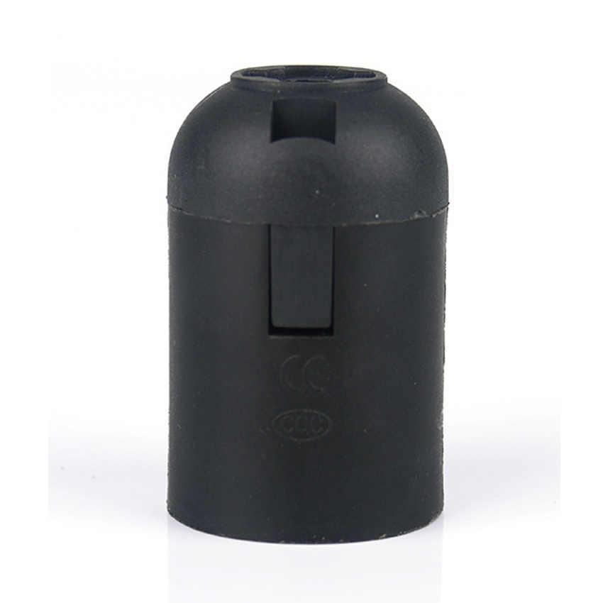 Durable White black 4A 250V E27 E26 Copper Plastic Cassette Energy Saving Led Bulb Lamp Holder Screw Lamp head socket