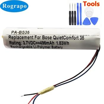 New Battery For Bose QuietComfort QC35 & QC35 II Accumulator 3.7V 496mAh Li-Polymer Replacement Batterie 3-wire+tools new battery for bose quietcomfort qc35