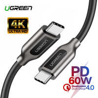 Ugreen PD 60 USB C to USB C 3.1 Cable for Samsung Galaxy S10 S9 3A Fast Charger Data Cable for Macbook
