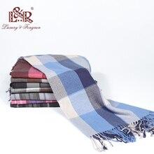 Осень-зима, унисекс кашемировый женский и мужской шарф, клетчатые мужские шарфы, модные шарфы на каждый день, мужские роскошные шарфы