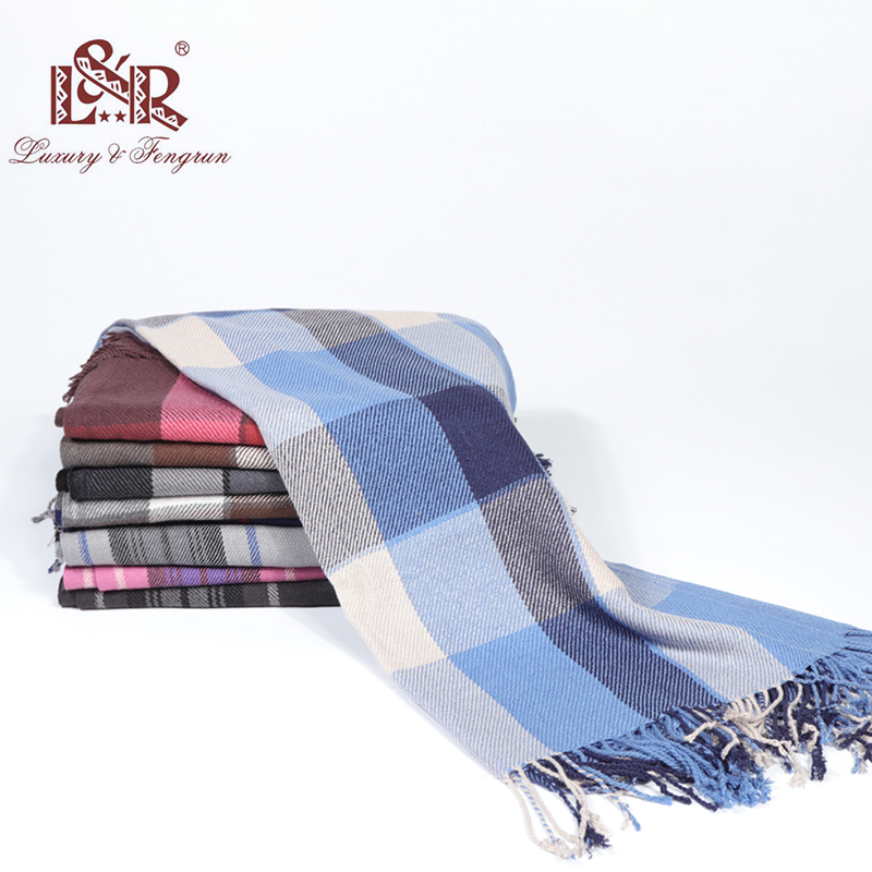 2019 Autumn Winter Unisex Cashmere Women Men Scarf Foulard Plaid Male Scarves Fashion Casual Scarfs Men Luxury Bufandas Hombre