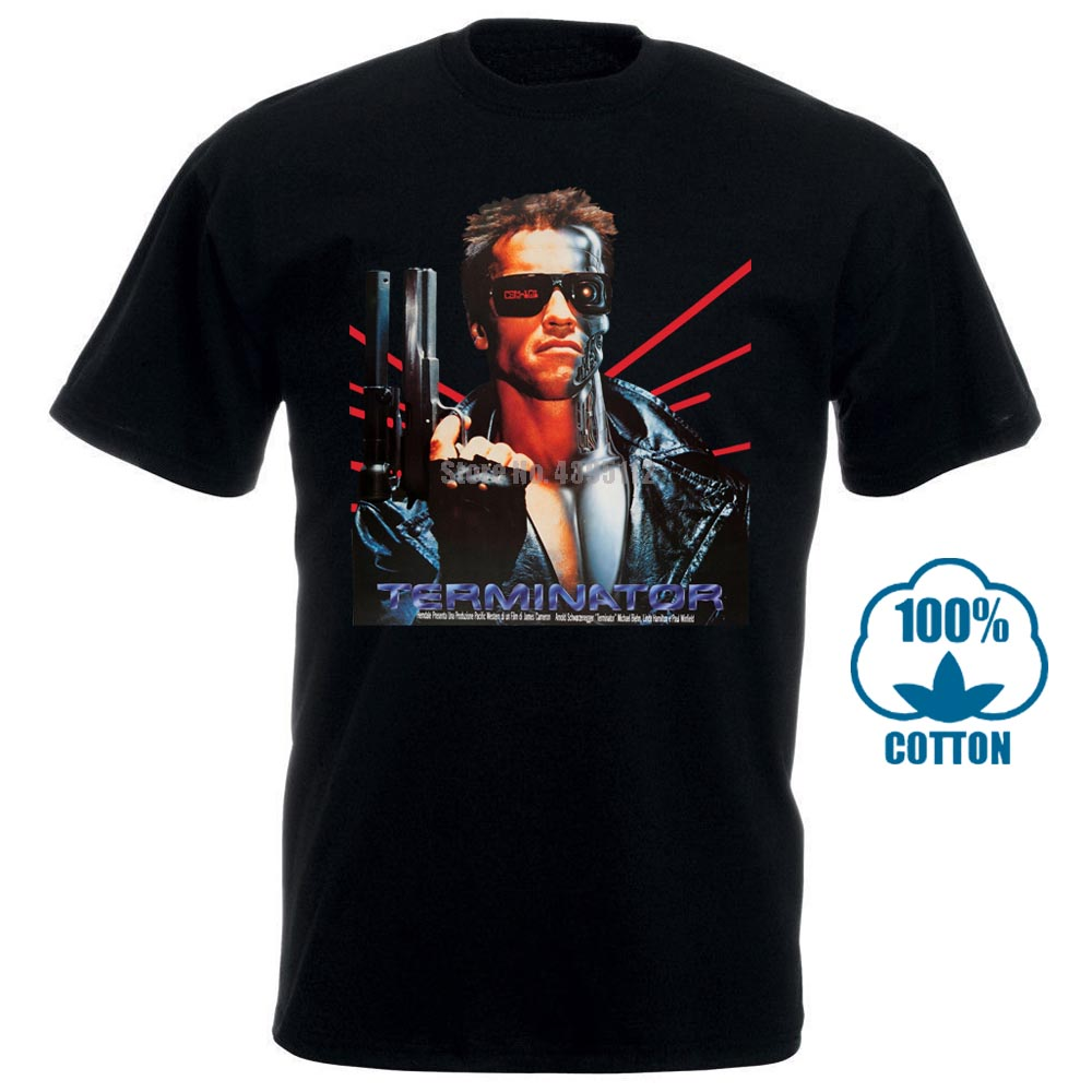 Funny T Shirt Men Novelty Tshirt The Terminator T Shirt Laser Back 011205