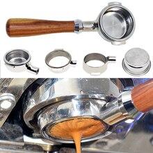 Эспрессо 304 нержавеющая сталь кофе ручка машины botlomelss голый портафильтр 51 мм-58 мм применяются к E61 пробивая головка