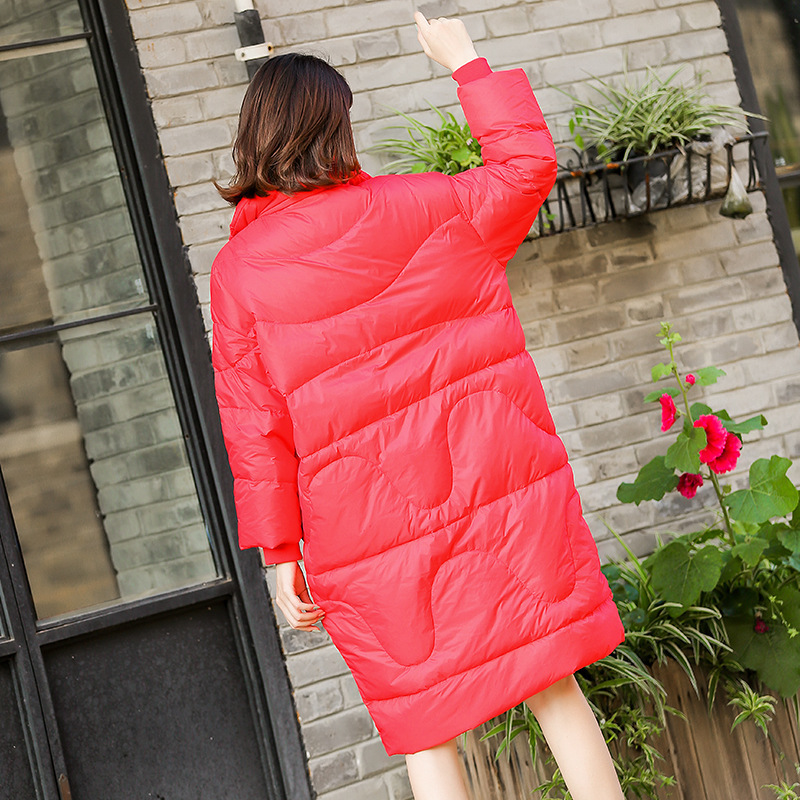 Chaquetas Plumas Mujer Winter Warm Thick Duck Down Jackets Women Loose Casual Red Coats Female 2020 Oversize Hot LX2233