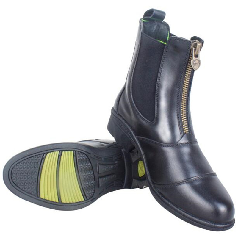 Cavassion Equestrian Riding Boots with YKK Zipper and Flat Heel Quality Cowhide Leather Jodhpur