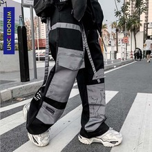 UNCLEDONJM Colour Block Cargo Pants Men Streetwear Hip hop L