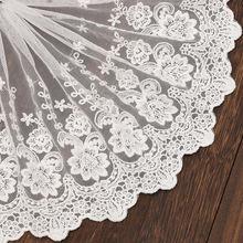 1 ярд вышивка кружевная ткань отделка 19 см ленты белая лента