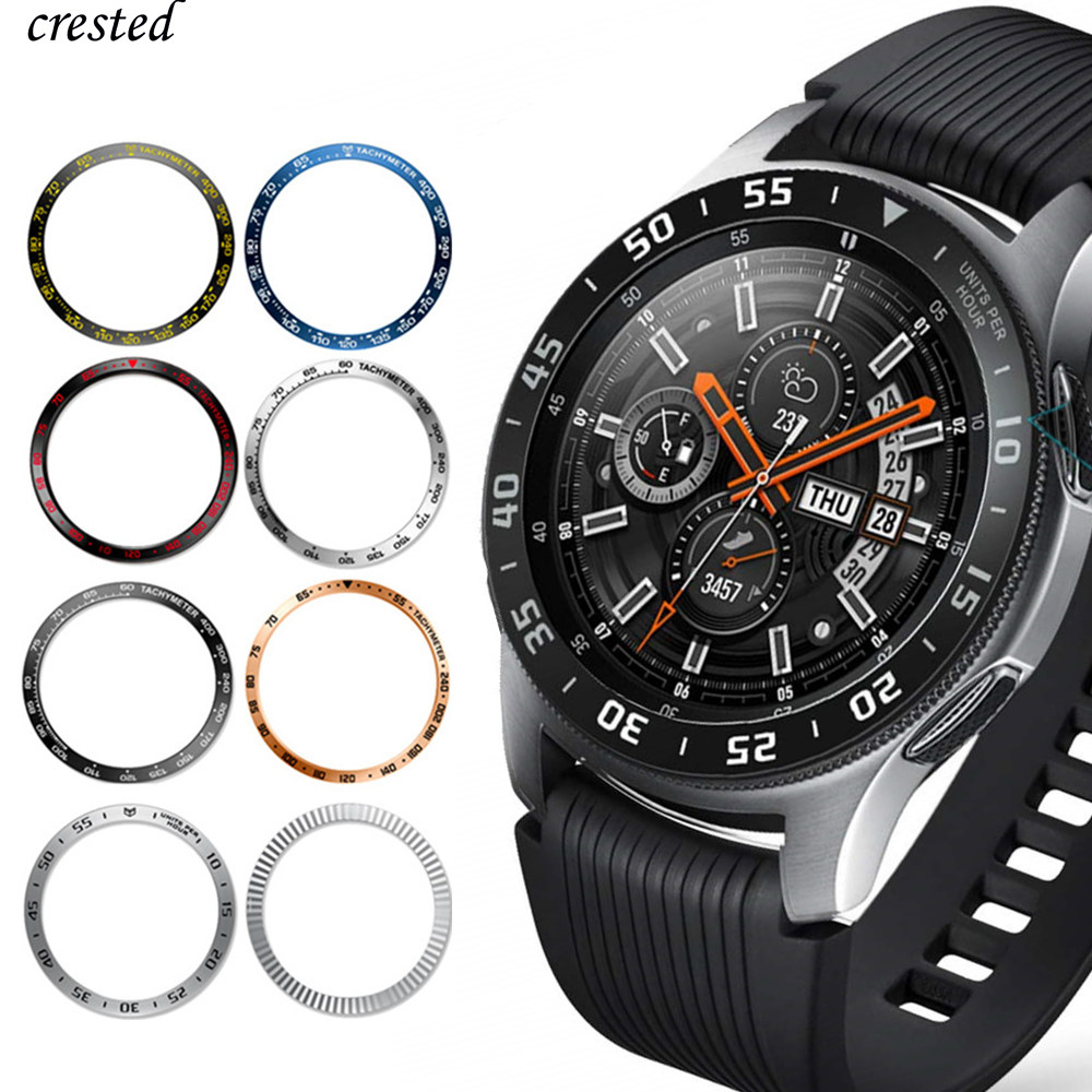 Metal Cover For Samsung Galaxy Watch 46mm/42mm Case Gear S3 Frontier/Classic Sport Adhesive Cover Band Strap Accessories 46/42 3