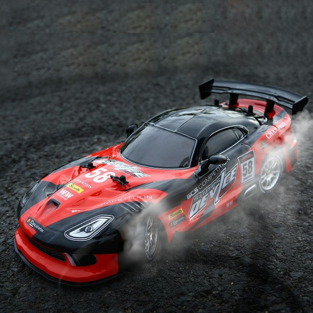 RC Car For GTR/Dodge Viper 4WD Drift Racing Championship 2.4G Off Road Rockster Remote Control Vehicle Electronic Hobby Toys 4