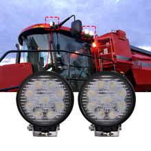 ECAHAYAKU 4 Inch 27W LED Work Light Floodlight 12V 24V Round LED Offroad Light Lamp Worklight for Off road Motorcycle Car Truck стоимость