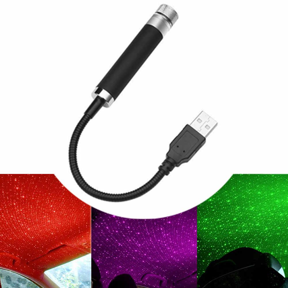 USB LED Auto Dach Sterne Nachtlicht Projektor Atmosphäre Galaxy Lampe Decor Auto Und Home Einstellbare Mehrere Lichteffekte 5V