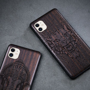 Image 5 - Black Wood 11 Pro Case For iPhone 11 Pro Max Case Wooden SE 2020 Cover TPU Coque For iPhone 7 8 Plus X Xr XS 11 Pro Max Funda