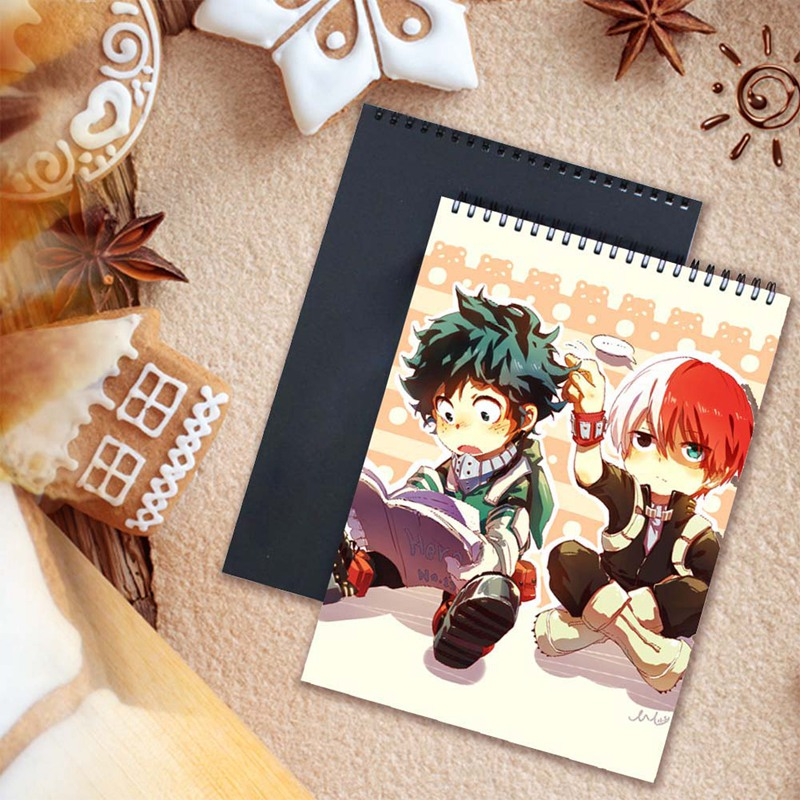A4 Anime My Hero Academia Watercolor Paper Sketch Book Portable Sketchbook Graffiti Sketch Hand Painting Notebook