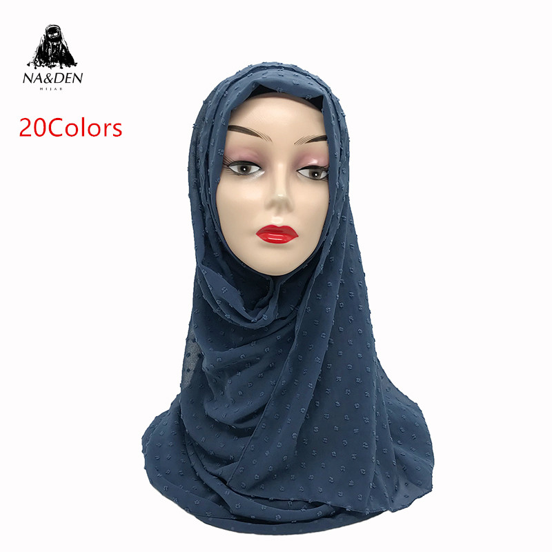 1PC Fuzzy Ball Scarf Plain Solid Scarves Fashion Lady's Fashion Wrap Chiffon High Quality Muslim Hijab Women Shawls