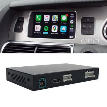 A6 C6 facelift Q7 wireless apple carplay interface mirror box activate to car radio screen android auto smart system wifi module