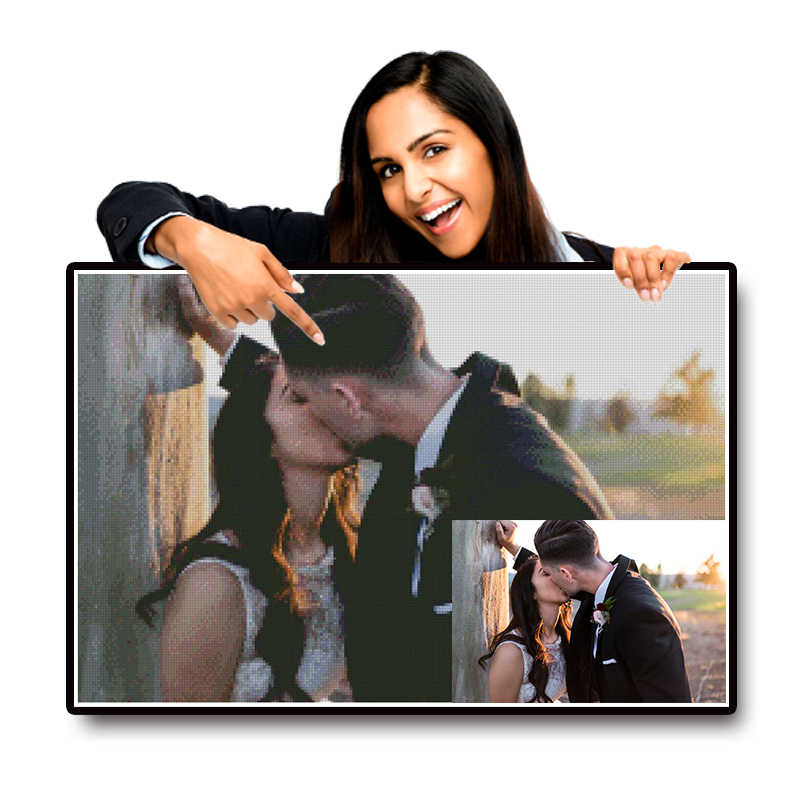 Carré/rond foret Photo personnalisé diamant peinture point de croix image complète bricolage mosaïque cadeau diamant broderie décoration de la maison