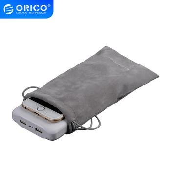 ORICO Velvet 180x100mm Mobilephone HDD Bag For USB Charger USB Cable Phone Power Bank Protection Portable Storage Bag Gray Case tanie i dobre opinie ORICO SA1810 Velvet Portection Bag Store Phone Power Bank Other Objects S 18*10cm L 20*11cm Velveteen