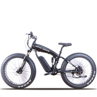 26inch electric mountain Bicycle 48V1500w Motor 26 * 4.0 electric bicycle Soft tail snow mountain bike 70KM/H FAT EBIKE