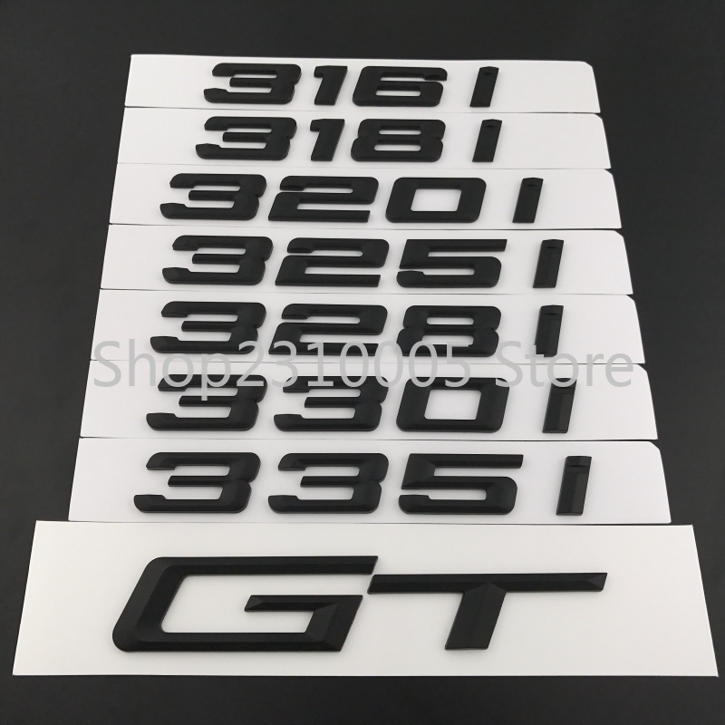 316i 318i 320i 325i 330i 335i GT Trunk Boot Emblem Letter Badges Car Logo for BMW 3-series F30 F31 F34 E90 E46 Matt Glossy Black