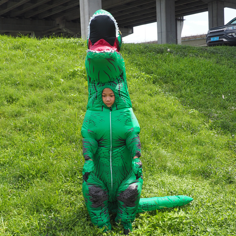 Anime Cospaly Men T REX Inflatable Dinosaur Costume Adult t-rex Mascot Costume Adultos Halloween Dinosaur Costume for Kids Women (1)