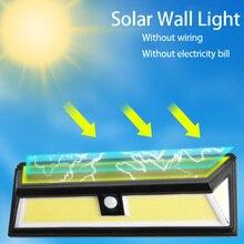 Solar Led Light Outdoor 180COB 118Led Solar Light Pir Motion Sensor Outdoor Led Light Outdoor Sensor Wall Lamp Aplique Exterior