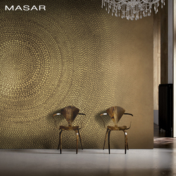 MASAR Brown simple circle mural villa living room background wallpaper simple fashion wallpaper annual ring