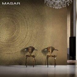 MASAR Bruin eenvoudige cirkel muurschildering villa woonkamer achtergrond behang eenvoudige mode behang jaarlijkse ring