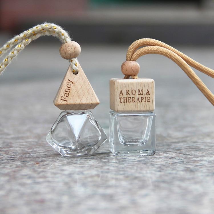 Beautiful Air Freshener Ornament Perfume Empty Bottle Pendant Essential Oils Auto Car Perfume Hanging Glass Bottle Car-styling