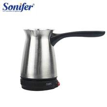 304 кофейная машина из нержавеющей стали, Турецкая кофеварка, Электрический кофейник, вареный молочный кофе, чайник в подарок, 220 В, Sonifer