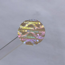 2000pcs 15mmx15mm Hologram Sticker Security Counterfeit Original Seal Tamper Proof Warranty Invalid Laser Void Label Customize