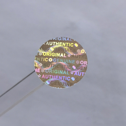 2000psc 15mmx15mm Hologram Sticker Security Counterfeit Original Seal Tamper Proof Warranty Invalid Laser Void Label Customize