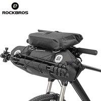 ROCKBROS Bicycle Bag Big Capacity Waterproof Front Tube Cycling Bag MTB Handlebar Bag Front Frame Trunk Pannier Bike Accessories|cycling handlebar bag|bicycle front tube bag|handlebar bag -