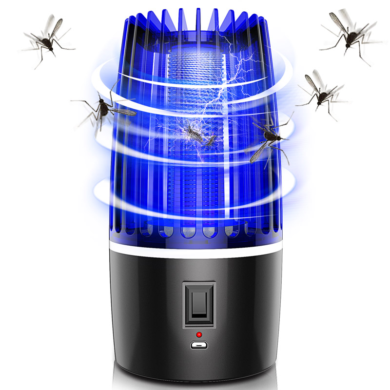 2020 New 2 In 1 USB Rechargeable Mosquito Killer Lamp LED Bug Zapper Insect Killer Pest Repeller Camping Light Mosquito Trap