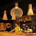 Подвесной светильник из цельного дерева s  украшение для гостиной  ресторана  подвесной светильник s  деревянная лампа для столовой  светиль...