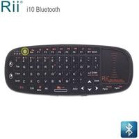 Rii i10BT Mini teclado Bluetooth con panel táctil para iPad Pro  iPhone X  Android TV Box  Windows tabletas teclado de teléfono inalámbrico