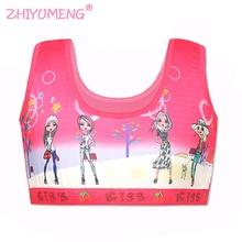 teen bra girl Children's Vest 3D Training Underwear teen Kids Teenage Young Sport 8-14Y Hipster Cartoon summer baby girls bras стоимость