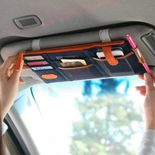 Car styling Car Sun Visor Card Package Holder Multifunction In Car Pocket Organizer Pouch Bag Pocket Auto Tidying Accessories