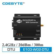 E103-W02-DTU wifi Серийный Сервер RS232 RS485 CC3200 433 МГц 100 мВт IOT uhf беспроводной модуль приемопередатчика 433 мгц приемник передатчика