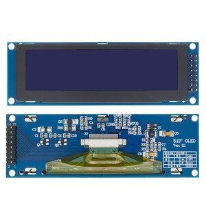 "Image 2 - 1 peça real oled display 3.12 ""256*64 25664 pontos display gráfico módulo lcd tela lcm ssd1322 controlador suporte spi"