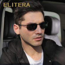 ELITERA Polarized Sunglasses Men Brand Designer Small lens Sunglass Mens Driving Sun Glasses