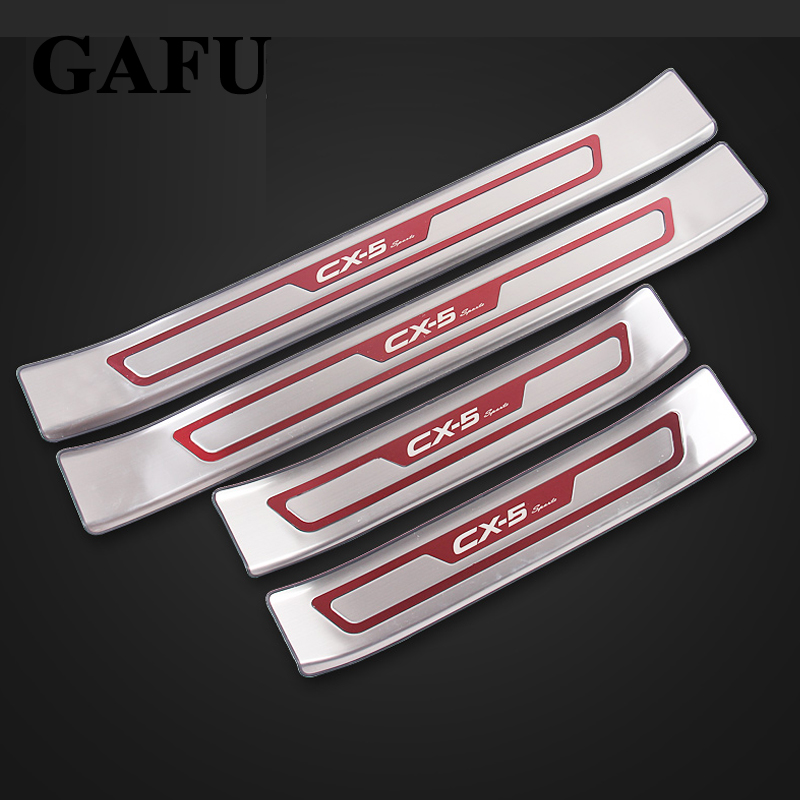 For <font><b>Mazda</b></font> <font><b>cx5</b></font> cx-5 2017 2018 Stainless Steel Door Sill Scuff Plate Stainless Steel Car Accessories Car-Styling image