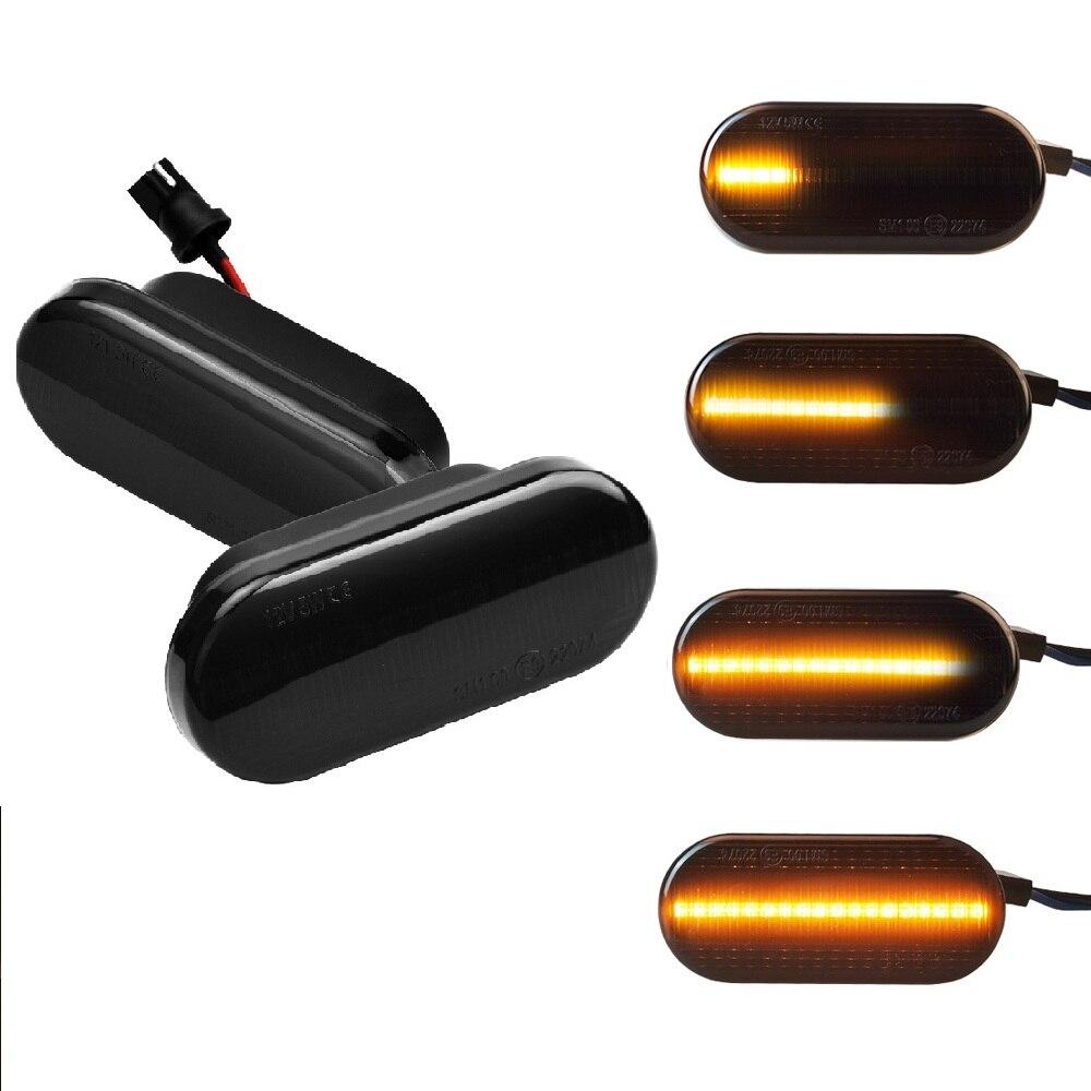 2 peças led marcador lateral dinâmico transformar a luz do sinal para volkswagen vw passat 3bg bora golf 3 4 polo sb6 seat ibiza leon skoda ford