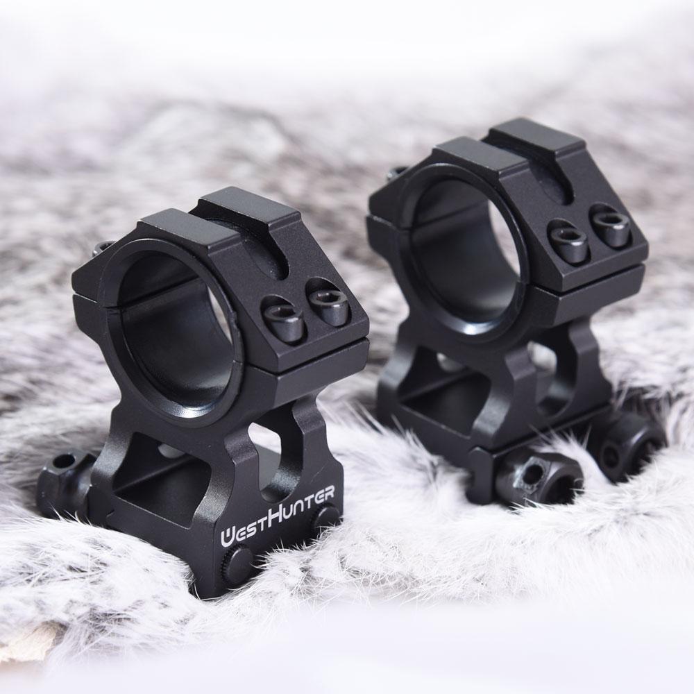 Suporte de Escopo Tático para Caça Picatinny e Riflescope Cnc de 25.4mm 30mm com Alto Westhunter Revestimento Perfil Acessórios –