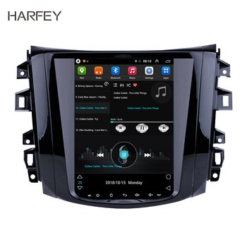 Harfey 9.7 Vertical Screen Car GPS Navi 4G LTE Android 9.1 Radio Multimedia Player Auto Audio WIFI for 2018 Nissan NAVARA Terra image