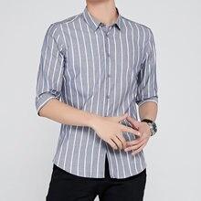 Nova venda quente primavera casual camisa quente manga curta listrado camisas de veludo grosso dos homens marca vestido camisas masculino magro ajuste