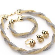 Jewelry Set For Women African Beads Jewelry Set Wedding Twist Weave Choker Necklace Bridal Dubai Eth