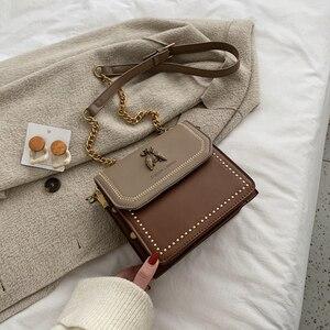 Женские кожаные сумки через плечо контрастного цвета, модная простая сумка через плечо, женская сумка через плечо, 2019